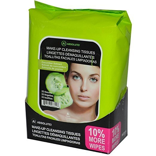 Absolute New York Cucumber Extract Make Up Tissues – 33wipes-825