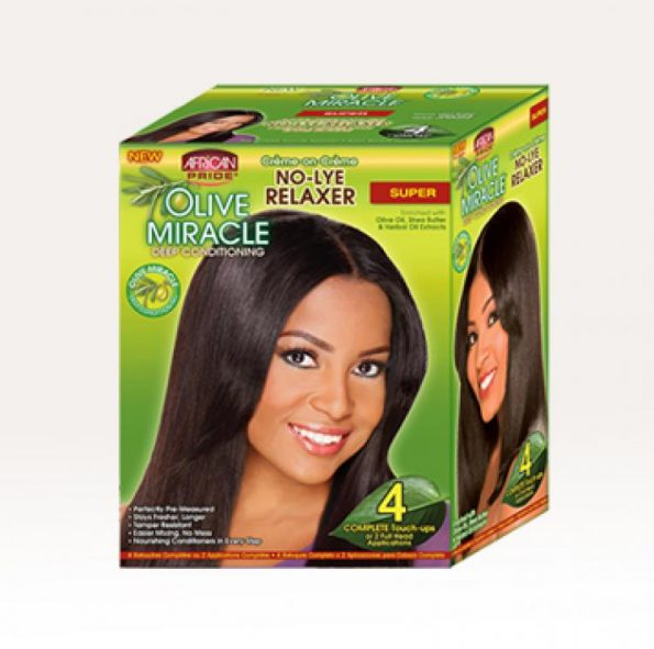 African Pride Olive Miracle By 4 Complete Touch Ups Super-0