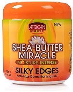 African Pride Shea Butter Miracle Moisture Intense Silky Edges Anti-Frizz Conditioning Gel 6oz-0