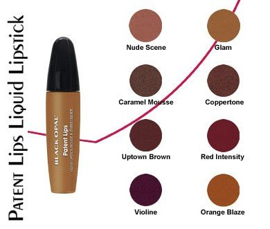 Black Opal Patent Lips Liquid Lipstick - Orange Blaze-0