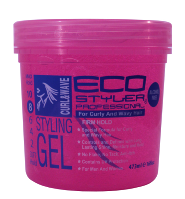 Eco Styler Curl & Wave Pink Styling Gel 24oz-0