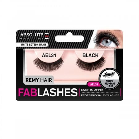 Absolute New York White Cotton Band Remy Hair Fablashes- AEL 31-0