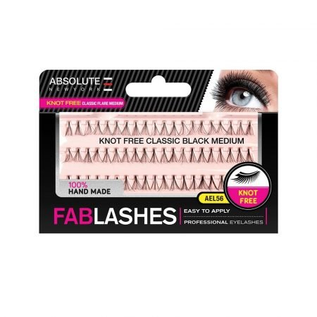 Absolute Newyork Knot Free Classic Flare Black Medium Fablashes- AEL 56-0