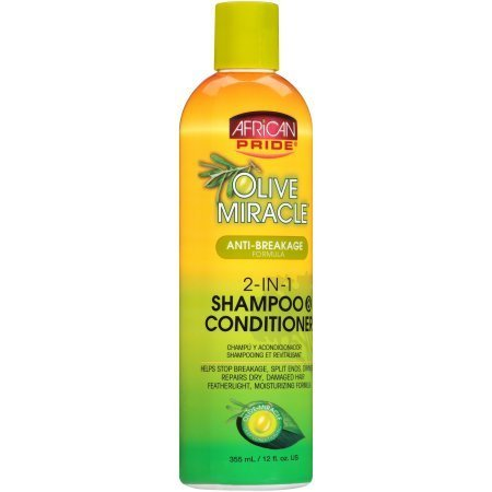 AFRICAN PRIDE OLIVE MIRACLE 2-IN-1 SHAMPOO AND CONDITIONER-0
