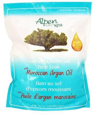 Alpen Secrets Foaming Epsom Bath Salt- Moroccan Argan Oil-0