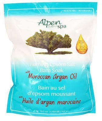 Alpen Secrets Foaming Epsom Bath Salt- Moroccan Argan Oil-0