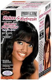 Profectiv Relax & Refresh - Relaxer plus Color Kit 2 Touch-Up Application Jet Black #43-0