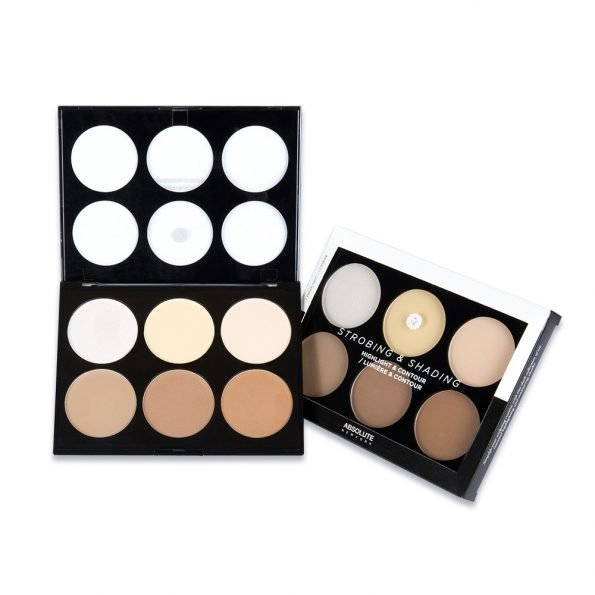 Absolute New York Strobing And Shading Highlight And Contour Palette- Light To Medium-0