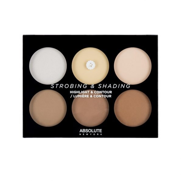 Absolute New York Strobing And Shading Highlight And Contour Palette- Light To Medium-1887