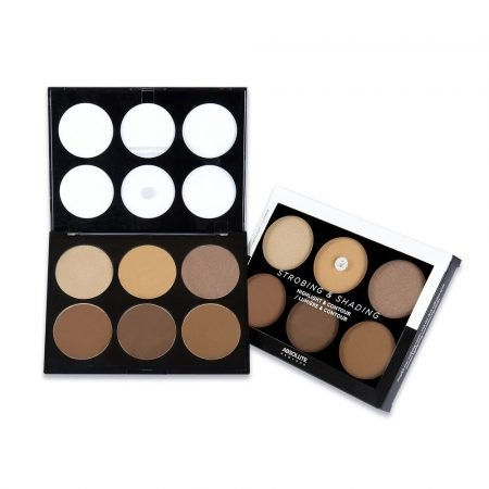Absolute New York Strobing And Shading Highlight And Contour Palette- Tan To Deep-0