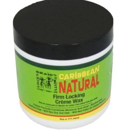 Caribbean Natural Firm Locking Creme Wax Jar 6oz-0