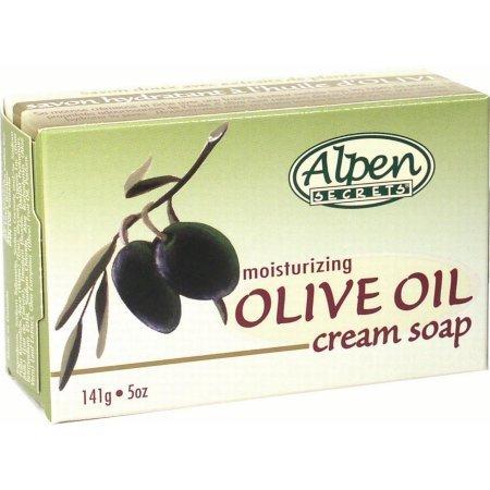 Alpen Secrets Olive Oil Moisturizing Cream Soap, 5 Oz-0