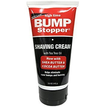 High Time Bump Stopper Shaving Cream With Tea Tree Oil 5 oz-0