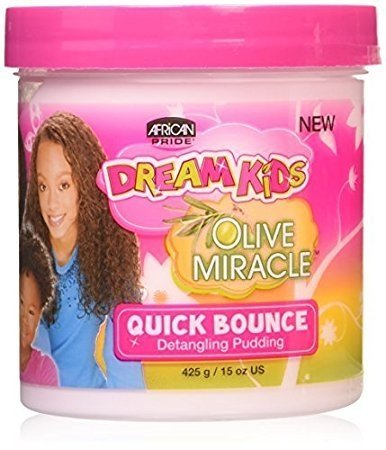 African Pride Dream Kids Olive Miracle Quick Bounce Detangling Pudding 15 oz-0