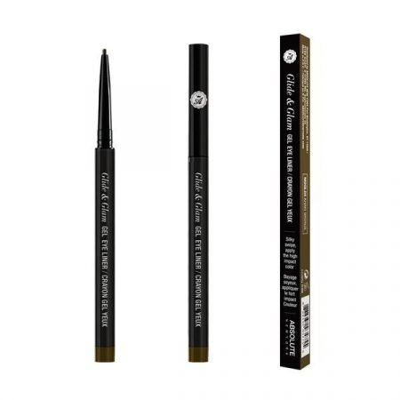 Absolute Newyork Glide & Glam Gel Eye Liner- Khaki Brown
