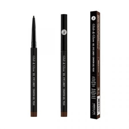 Absolute New York Glide & Glam Gel Eye Liner- Brown