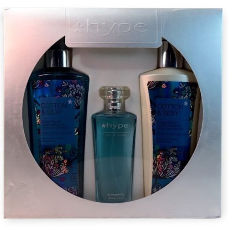 Hype* Gift Set of Body Lotion, Moisturizing Body Mist, Eau De toilette – Cotton & Sexy