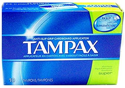 Tampax Cardboard Applicator 10's Super