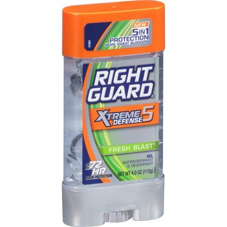 Right Guard Xtreme Defense 5 Gel  Anti-Perspirant & Deodorant, Fresh Blast 3.0 Oz