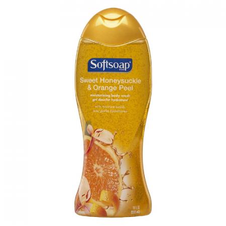 Softsoap Moisturizing Body Wash, Sweet Honeysuckle and Orange Peel – 18 Fluid Ounce