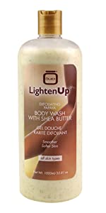 LightenUp Exfoliating gel 1000 ml – Formulated to Exfoliate and to Nourish Skin, with Shea Butter, Papaya
