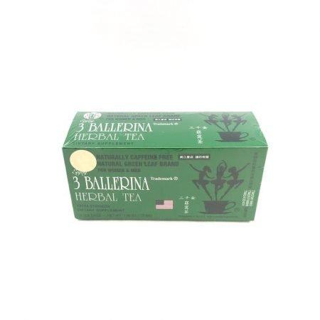 CAFFEINE FREE NATURAL GREEN LEAF 3 BALLERINA TEA