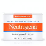 Neutrogena Acne-Prone Skin, Dye-Free, Non-Comedogenic Glycerin Soap Bar
