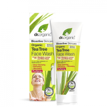 Dr Organics Tea Tree Face Wash 200ml