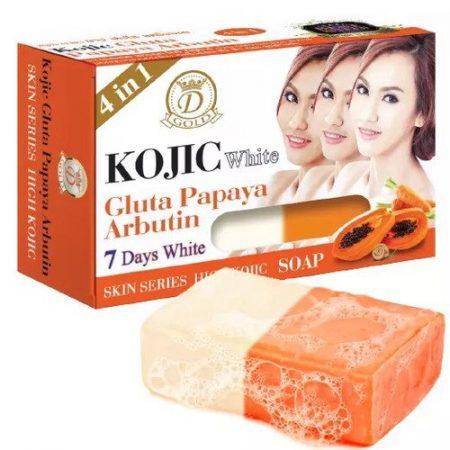 4 in 1 Kojic White Gluta Papaya Arbutin Soap